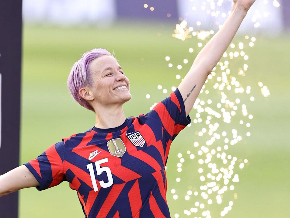 """<p>On the inside of Rapinoe's left bicep is the phrase, """"Nature ran her course."""" The empowering quote is not easy to spot, but you can occasionally get a glimpse when she lifts her arms.</p>"""