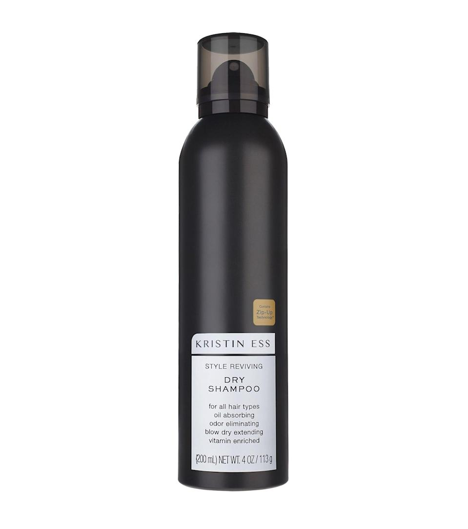 "<p>""Not only does the <span>Kristin Ess Style Reviving Dry Shampoo</span> ($14) have an amazing, fresh smell, it also doesn't make my brunette hair look too chalky. A few sprays of this gives me volume and texture without feeling like I have product build-up at my roots."" - MW</p>"