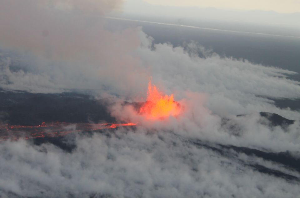 <em>The volcano is the largest and most powerful in Iceland (Wikipedia)</em>