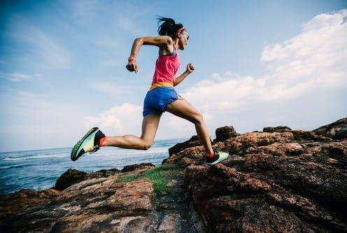 """<span class=""""caption"""">Most young athletes with heart block typically don't experience any symptoms.</span> <span class=""""attribution""""><a class=""""link rapid-noclick-resp"""" href=""""https://www.shutterstock.com/image-photo/young-fitness-woman-trail-runner-running-1658608081"""" rel=""""nofollow noopener"""" target=""""_blank"""" data-ylk=""""slk:lzf/ Shutterstock"""">lzf/ Shutterstock</a></span>"""