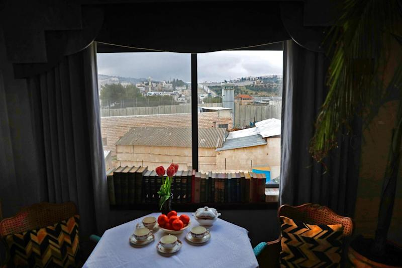 The Banksy hotel boasts 'the worst view in the world'. (AFP/Getty Images)