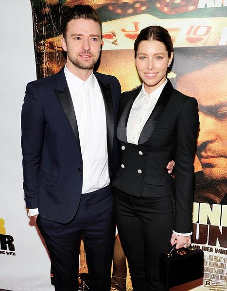 Jessica Biel, Justin Timberlake Wear Matching Suits at Premiere: Shades of Britney Spears Years!