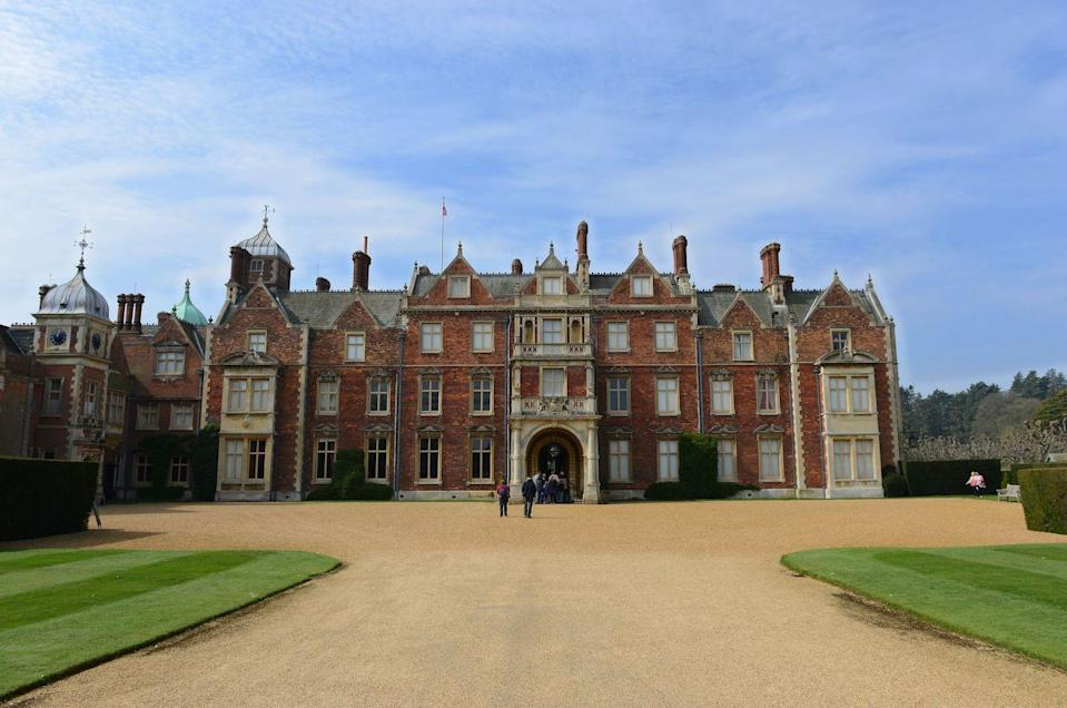 "<p><a href=""https://www.royal.uk/royal-residences-sandringham-house"" rel=""nofollow noopener"" target=""_blank"" data-ylk=""slk:This 19,000-acre estate"" class=""link rapid-noclick-resp"">This 19,000-acre estate </a>is a private residence of the royal family near Norfolk, England. The Queen inherited the property from her family in 1952, with Prince Philip taking charge for the home's management and upkeep. The royal family usually celebrates Christmas at Sandringham House and attends religious services at the Church of St. Mary Magdalene, which is located on the grounds.</p>"