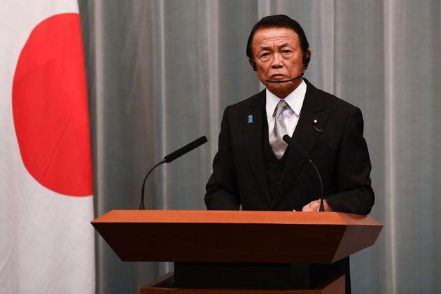 Japan's finance minister and deputy prime minister Taro Aso delivers a speech during a press conference at the Prime Minister's office in Tokyo on September 16, 2020. - Japan's parliament votes on September 16 for the country's next prime minister, with powerful cabinet secretary Yoshihide Suga all but assured the top job, as Shinzo Abe ends his record-breaking tenure. (Photo by Charly TRIBALLEAU / AFP) (Photo by CHARLY TRIBALLEAU/AFP via Getty Images) (Photo: CHARLY TRIBALLEAU via Getty Images)