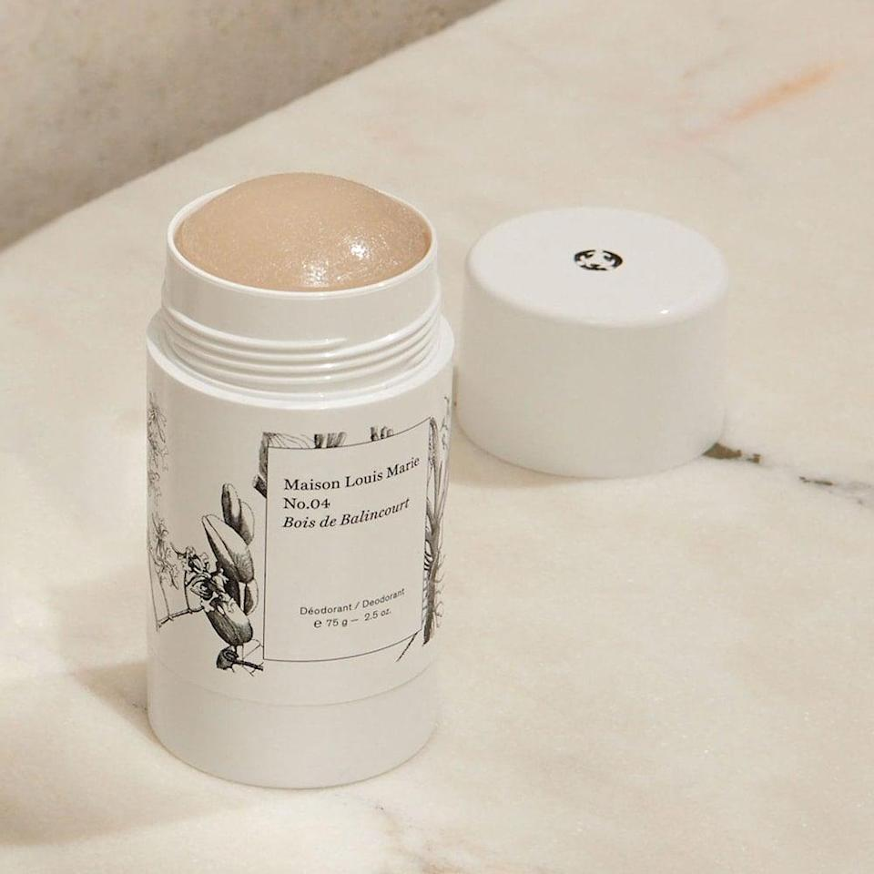 <p>If you're as in love with the No.04 candle as we are, you're going to want to swipe on this sandalwood <span>Maison Louis Marie No.04 Bois de Balincourt Deodorant</span> ($20) all the time.</p>