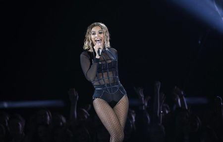 "Beyonce performs ""Drunk In Love"" at the 56th annual Grammy Awards in Los Angeles"