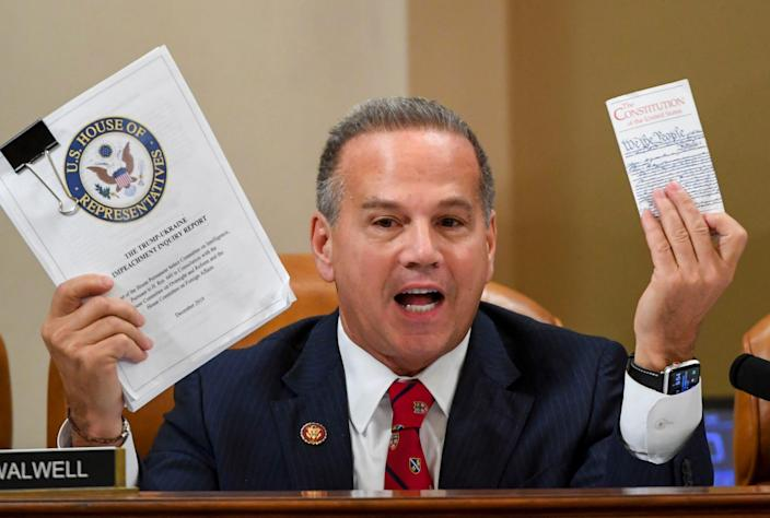 Rep. David Cicilline, D- R.I., speaks during a House Judiciary Committee markup of Articles of Impeachment against President Donald Trump, Dec. 12, 2019 on Capitol Hill in Washington.