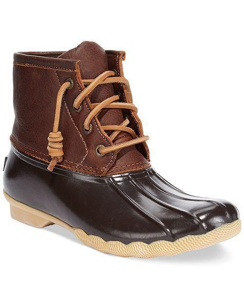 """<p><strong>Sperry</strong></p><p>amazon.com</p><p><strong>$59.99</strong></p><p><a href=""""https://www.amazon.com/dp/B00PKHHJ8O?tag=syn-yahoo-20&ascsubtag=%5Bartid%7C10050.g.25300156%5Bsrc%7Cyahoo-us"""" rel=""""nofollow noopener"""" target=""""_blank"""" data-ylk=""""slk:Shop Now"""" class=""""link rapid-noclick-resp"""">Shop Now</a></p><p>Sperry shoes and outdoor activities go together like peanut butter and jelly. These boots boast weather-resistant rubber soles and comfy, fleece-lined leather uppers that will keep feet warm and dry while gardening.</p>"""