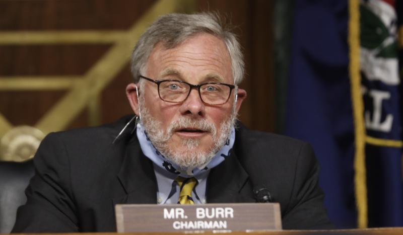 Chairman Richard Burr, (R-NC), gives opening remarks at a Senate Intelligence Committee hearing for a nomination hearing for Rep. John Ratcliffe, R-Texas, on May 5, 2020 in Washington, DC. (Photo: Andrew Harnik-Pool/Getty Images)