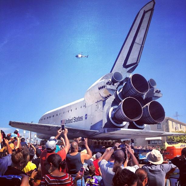 Awestruck! #endeavour (Photo courtesy of marceloinla, via Instagram)