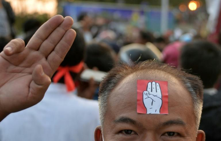 """Myanmar's protesters have adopted the three-finger salute inspired from the """"Hunger Games"""" films"""