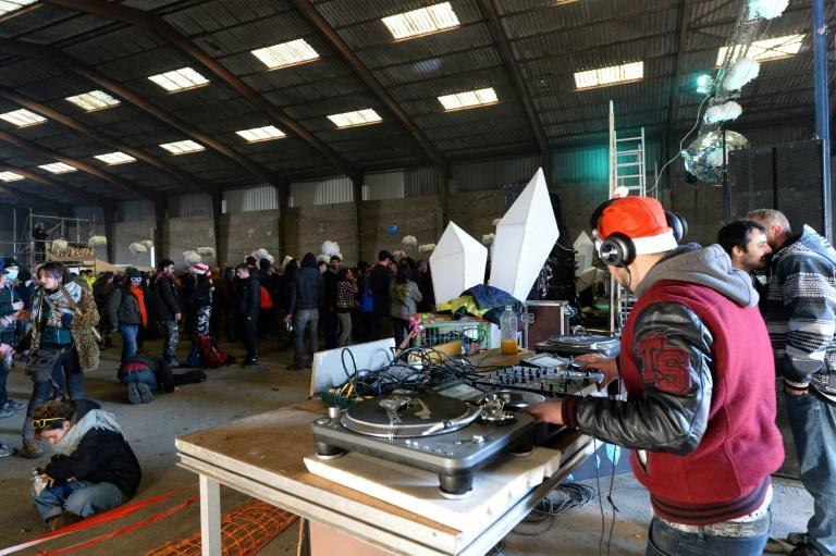 A DJ at the huge illegal rave
