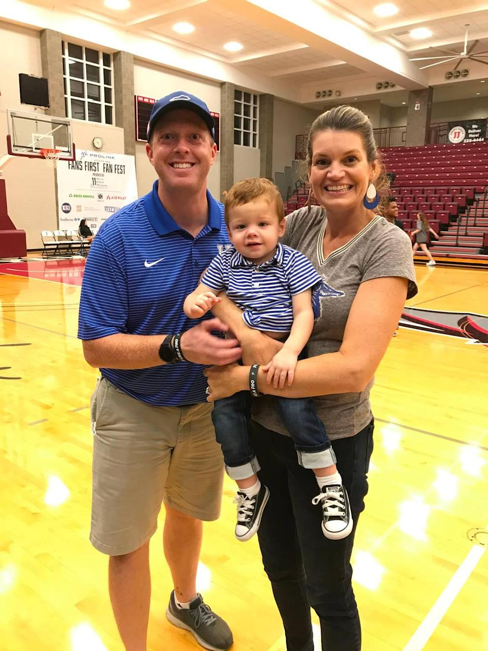 Ryan, Colin and Kelly Shrout attended the Kentucky basketball players' Fans First Fan Event at Transylvania University on Saturday.