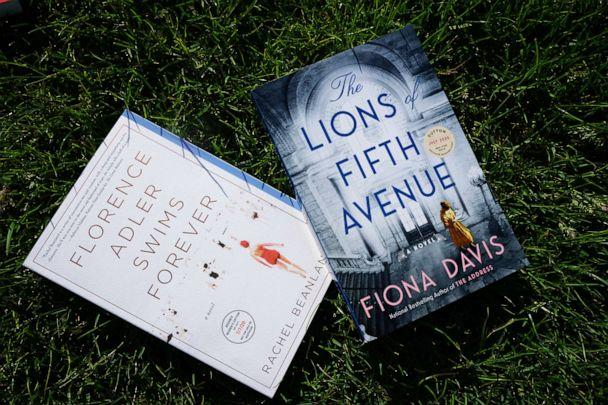 PHOTO: Summer Reading Picks: Florence Adler Swims Forever and The Lions of Fifth Avenue (Zibby Owens)