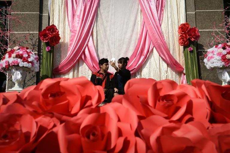 Valentine's Day is typically considered an auspicious day for couples to tie the knot in Thailand