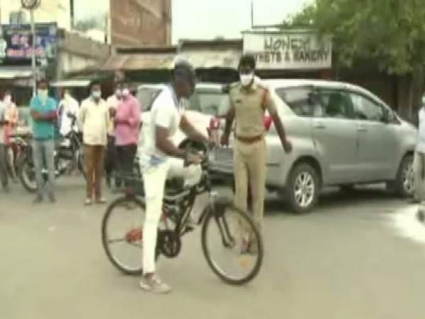 70-year-old Hyderabad man cycles his way to help people in need amid COVID pandemic