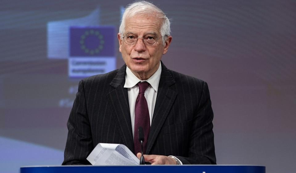 Josep Borrell, the European Commission's foreign policy head, introduced a sanctions programme last week but avoided saying whether it would be applied to Xinjiang. Photo: EPA-EFE