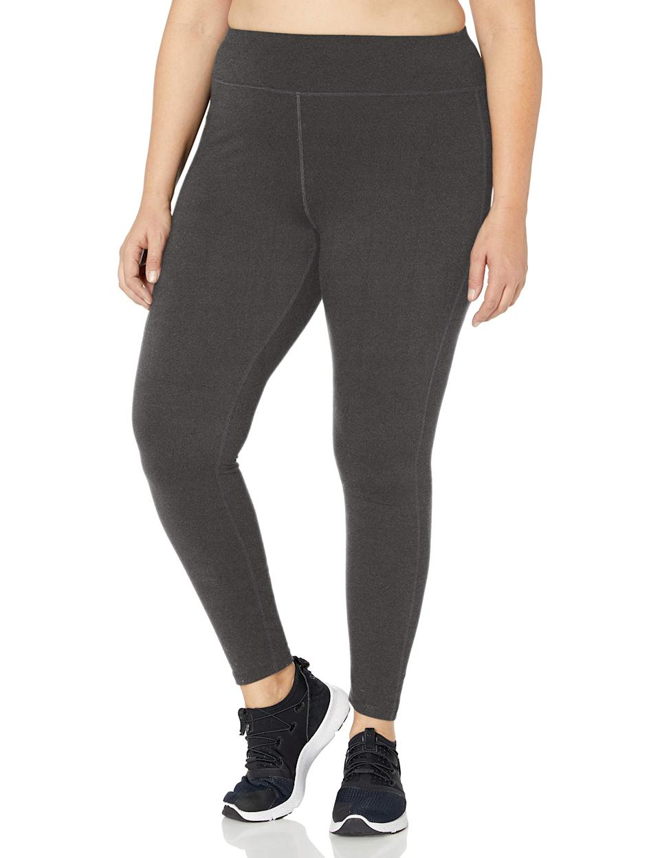 "<h3><a href=""https://amzn.to/2RqGBK3"" rel=""nofollow noopener"" target=""_blank"" data-ylk=""slk:Just My Size Plus Active Legging"" class=""link rapid-noclick-resp"">Just My Size Plus Active Legging</a></h3><br>While the form-fitting silhouette will give you aerodynamic movement, a sewn-in gusset allows for ultimate ease in movement. Plus, a smooth elastic inside means these fit the bill for a quality soft legging style. <br><br><br><br><br><strong>Just My Size</strong> Plus Size Active Run Legging, $, available at <a href=""https://amzn.to/2UYVpC5"" rel=""nofollow noopener"" target=""_blank"" data-ylk=""slk:Amazon"" class=""link rapid-noclick-resp"">Amazon</a>"