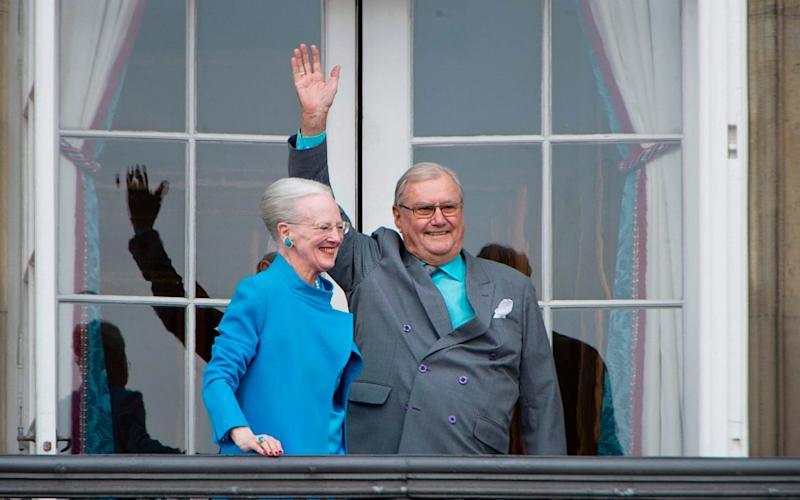 Prince Henrik with Queen Margrethe II in 2016 - AFP