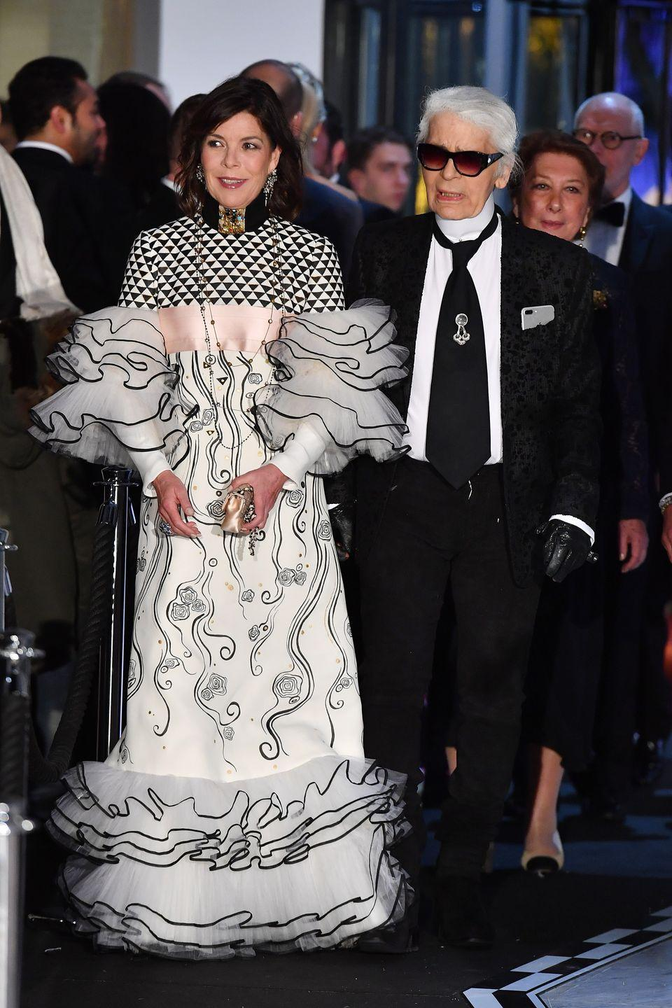<p>Another daring look for the princess—with Karl Lagerfeld for the 2017 Rose Ball. </p>