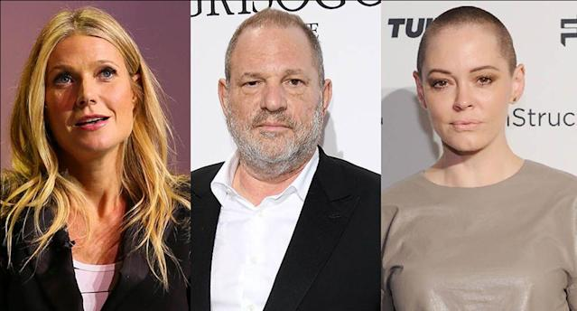 Gwyneth Paltrow, left, and Rose McGowan are just two of the many women who have accused Harvey Weinstein of sexual misconduct. (Photos: Getty Images)