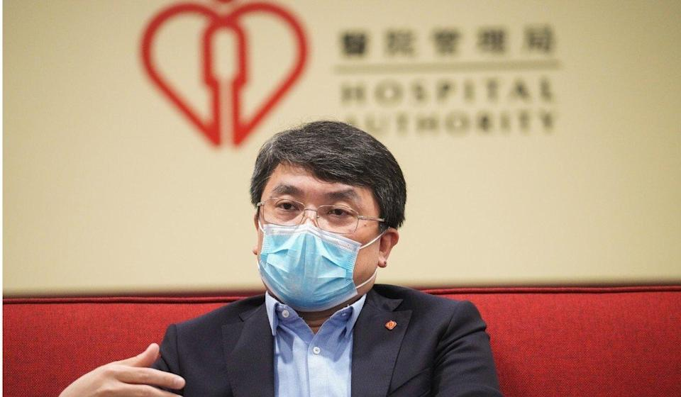 The Hospital Authority's Dr Deacons Yeung Tai-kong discusses the city's new plan to draw more non-locally trained doctors to work in public hospitals. Photo: Winson Wong