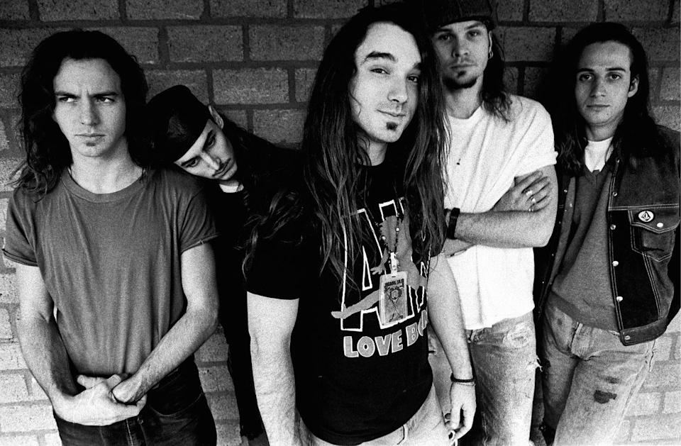 """<p>The other massively popular band to come out of Seattle's grunge scene in the 90s: Eddie Vedder's Pearl Jam. They hit it big in 1991 with album <em>Ten</em>, with hit songs like """"Even Flow,"""" """"Alive"""" and """"Jeremy."""" They followed that up with the successful <em>Vs.</em> and <em>Vitalogy</em> albums, solidifying their status in the mainstream. </p>"""