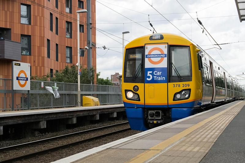 A London Overground train: Rex Features