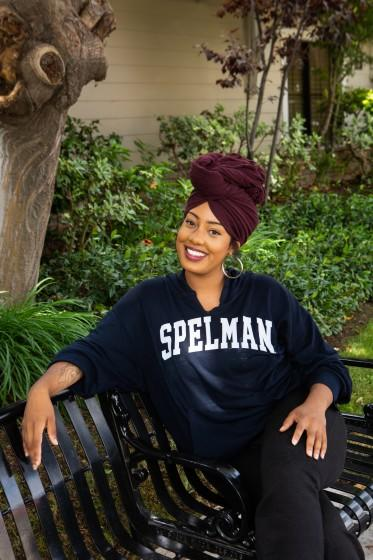 "Asha Grant, near the Queen Street location where she plans to open her bookstore, the Salt Eaters. <span class=""copyright"">(Gabriella Angotti-Jones / Los Angeles Times)</span>"