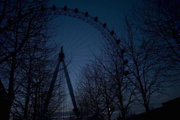 A view of the London Eye in London March 6, 2012.