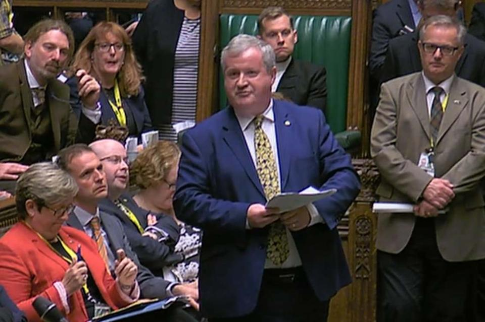 SNP Westminster leader Ian Blackford MP speaks in the House of Commons: PA