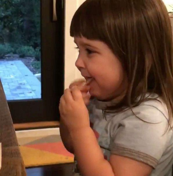 PHOTO: Mom's video of her toddler's reaction to tasting a salt and vinegar chip for the first time went viral on Twitter. (Laura Portwood-Stacer)