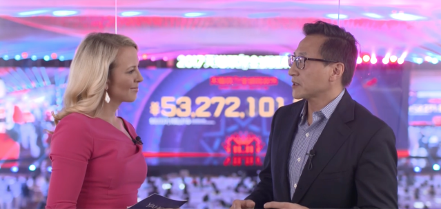 Alibaba's co-founder, Joe Tsai, with Yahoo Finance's Julia La Roche.