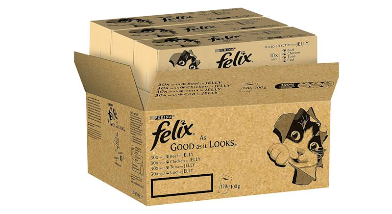 Felix As Good As It Looks Cat Pouches Mixed In Jelly (120 Pouches)