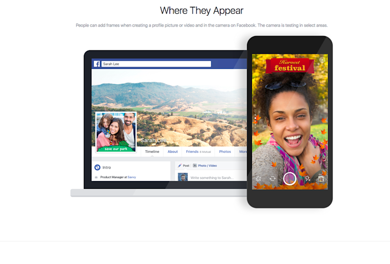 Facebook In-App Camera Update: Location Frames Are A Clone Of ...