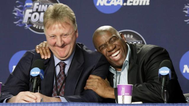The Hall of Famers and 1992 U.S. Olympic teammates Larry Bird and Magic Johnson will receive the award on June 24 at the NBA Awards, the league and Turner Sports announced Wednesday.