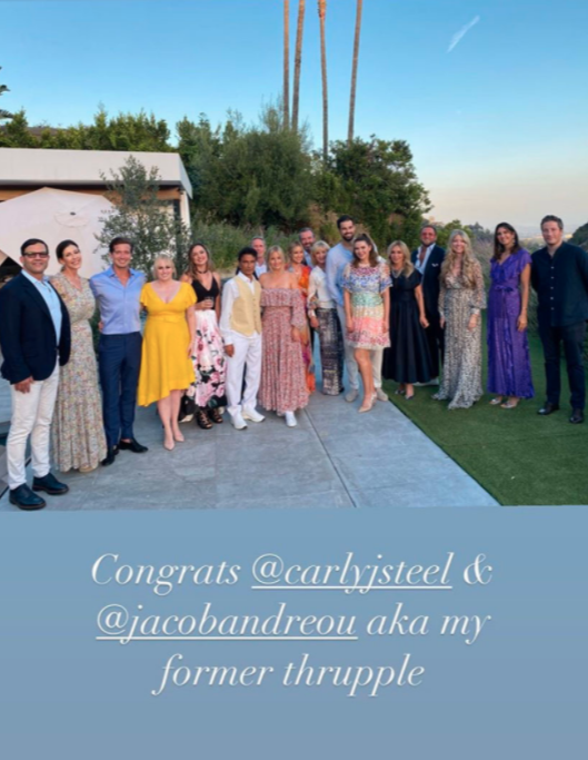 Rebel Wilson in a yellow dress at a wedding in California
