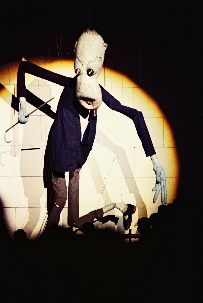 Stage puppet for The Wall at Earls Court, London, 1981.   Pete Still/Redferns