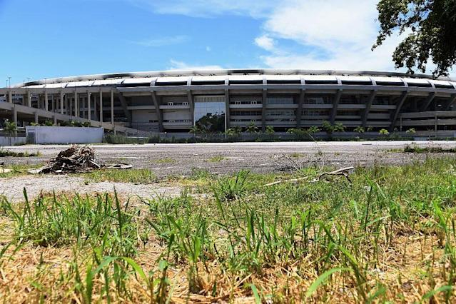 <p>But six months on, Rio's landmark stadium, the Maracana, has been left looted and vandalised (Vanderlei Almeida/AFP/Getty Images) </p>