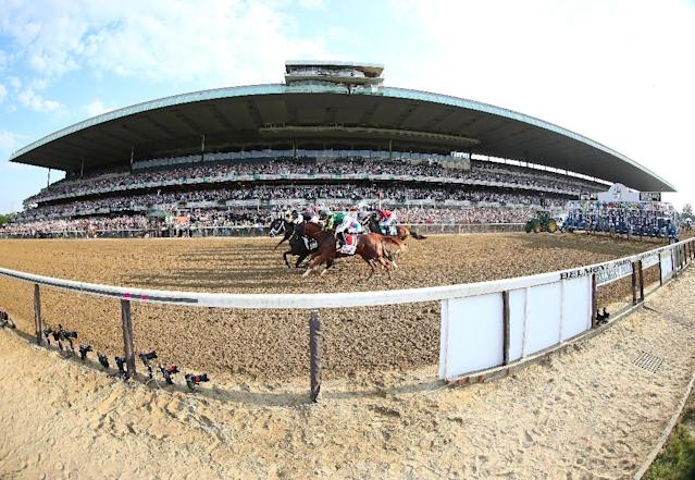 A proposal will see an 18,000-seat arena plus hotel, shops and restaurants built next to the venue that hosts the annual Belmont Stakes, the US flat racing Triple Crown equestrian event (AFP Photo/AL BELLO)