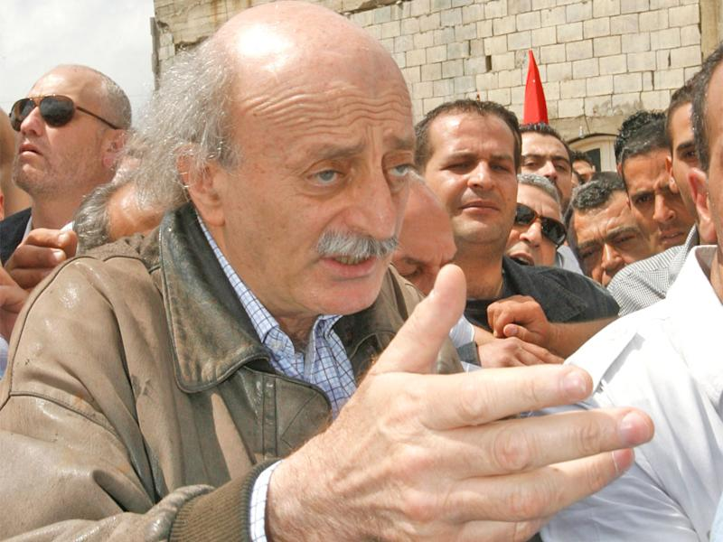 Walid Jumblatt, the leader of Lebanon's Druze community, is commemorating the 40th anniversary of his father's death: AP