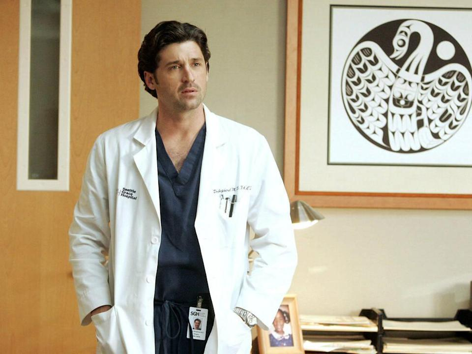 "Patrick Dempsey als Dr. Derek Shepherd in ""Grey's Anatomy"". (Bild: imago images/Everett Collection)"