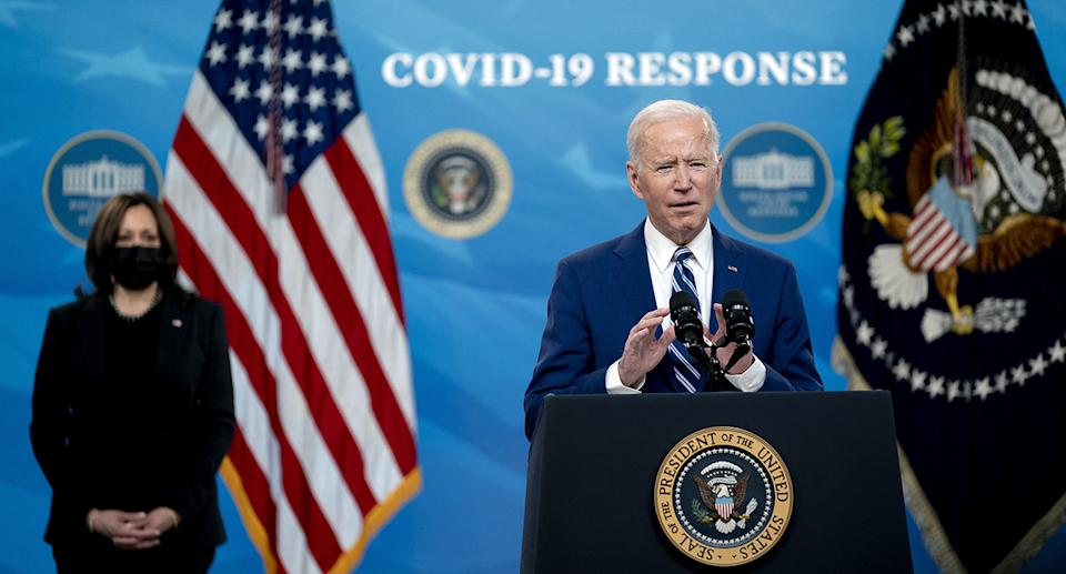 Joe Biden has said the Covid crisis continues to be 'deadly serious'. Source: AP