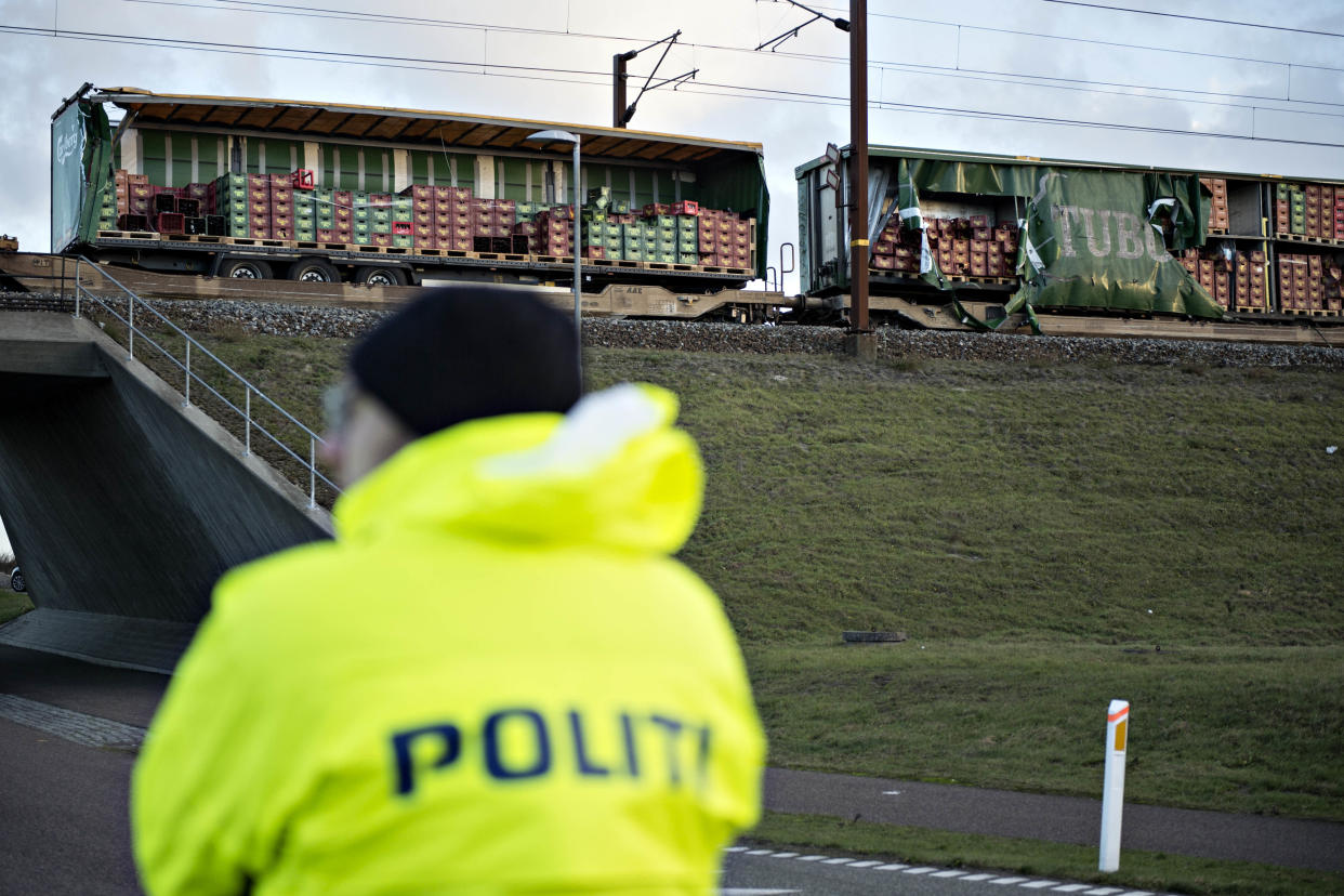 "<em>Police said the passenger train ""hit an unknown object"" (Picture: PA)</em>"