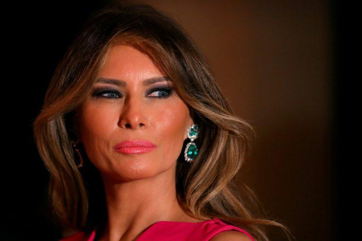 <i>Melania's block-coloured style is being copied across Europe [Photo: Reuters]</i>