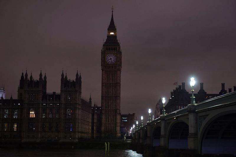 Lights out: the capital will be plunged into darkness in the name of climate change: NIKLAS HALLE'N/AFP/Getty Images