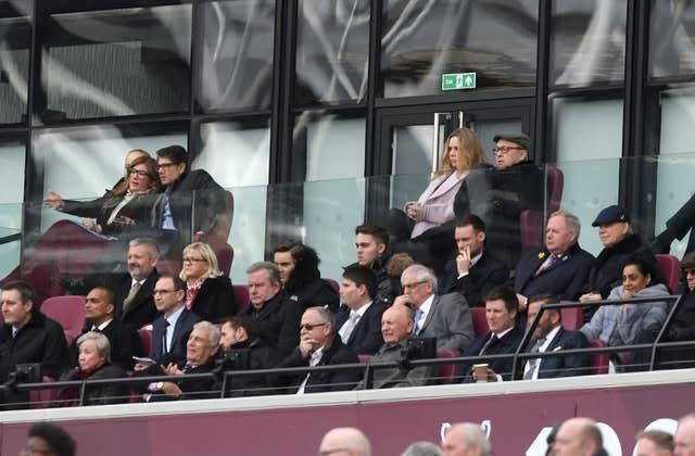 West Ham vice-chairman Karen Brady (top left) has outlined some of the club's plans (Victoria Jones/PA)