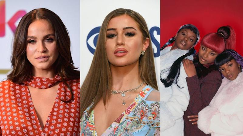 'Geordie Shore' star Vicky Pattison, 'Love Island' contestant Georgia Steel and Yonah and Cleo Higgins from 90s pop group Cleopatra are among those lined-up for the new series of 'Celebrity Coach Trip' (Ian West/Nicholas Hunt/Tim Roney/Getty)