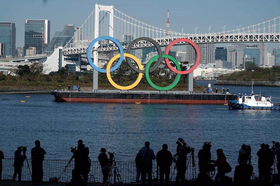 Japan Olympics Tokyo Rings Return (Copyright 2020 The Associated Press. All rights reserved)