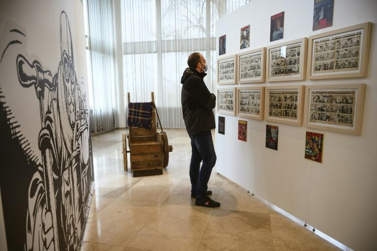 Original images from the 'Alan Ford' series are featured at an exhibition in Belgrade